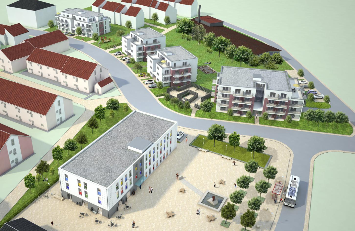 Studentisches Wohnen Jakob-Kaiser-Straße - Vogelperspektive
