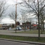 Baustelle am Platz der Weißen Rose Januar 2016
